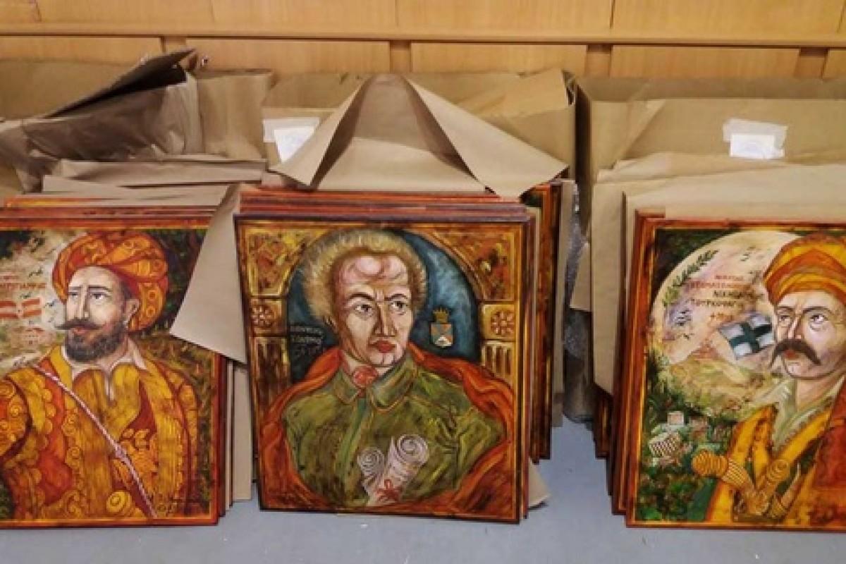 Έκθεση πορτρέτων με τίτλο Ηρωικές εικονογραφίες του κ. Παναγιώτη Μαυρόπουλου